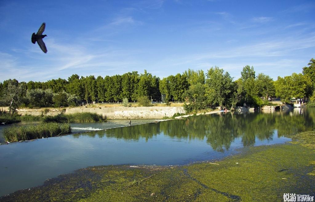摄影师拍西班牙绝美湖区 繁花掩映似炫彩油墨画
