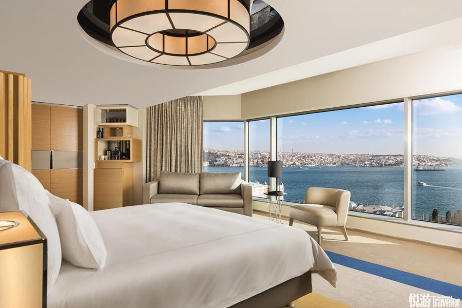 土耳其 伊斯坦布爾博斯普魯斯瑞士酒店:設計師是來自上海的周娟,她摒棄了酒店之前的正統奢華風,轉投簡...