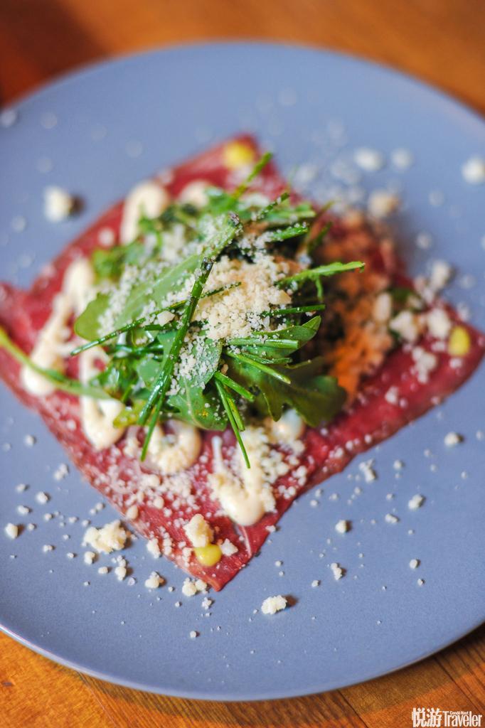 蔬菜,凯撒沙拉,熏肉