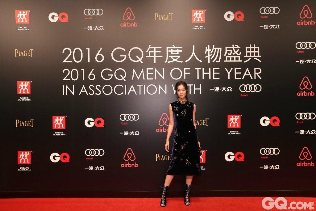 齐溪出席2016GQ年度人物盛典。