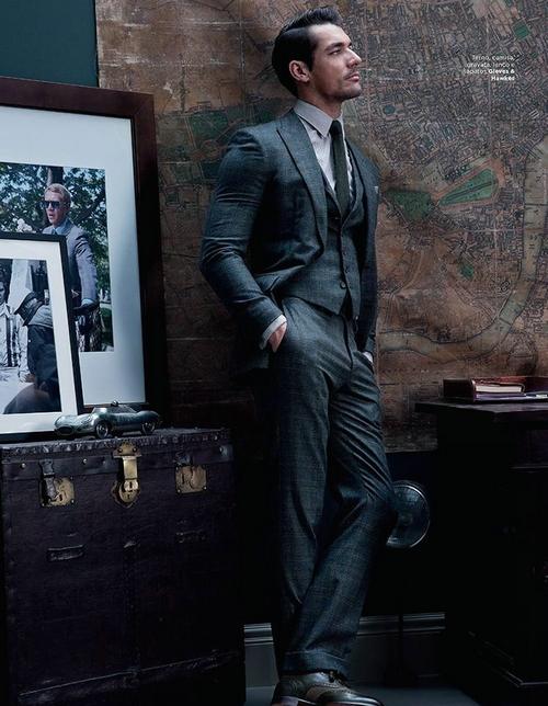 David Gandy已经是大家熟知的名模了,无论是Dolce & Gabbana的秀场上还是各国GQ杂志的封面与大幅内页,到处都印刷着这个男神的大片。天气越来越冷了,给大家看看春心荡漾的东西,最近David Gandy拍摄了多组秋冬大片,无论是被毛衣裹得严严实实还是西装革履,不管是在浴室泡澡还是穿着睡袍遛狗,无论是在衣帽间发愁还是在阳台吃早餐,不论是在泰晤士河畔散步还是在大本钟逗留,无孔不入的都是满满的费洛蒙!