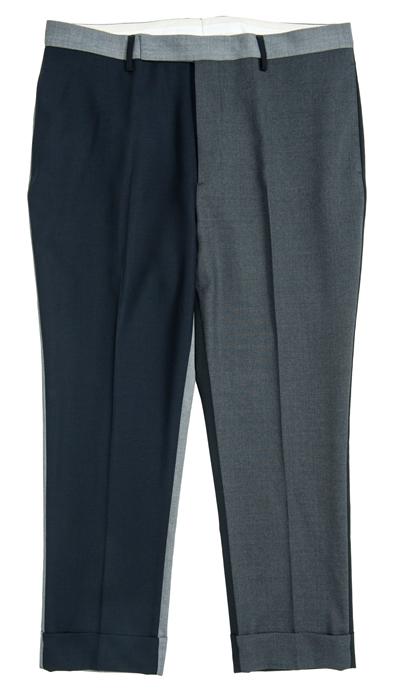WOOSTER + LARDINI拼貼羊毛九分西服褲  (連卡佛獨家)¥3,900  這款九分西服褲設計充滿玩味,不同色系組合出和諧格調,融合精準利落的剪裁,優雅大方而又不失正式感,不妨搭配同系列的西服外套,展現男士瀟灑帥氣的個性風尚。