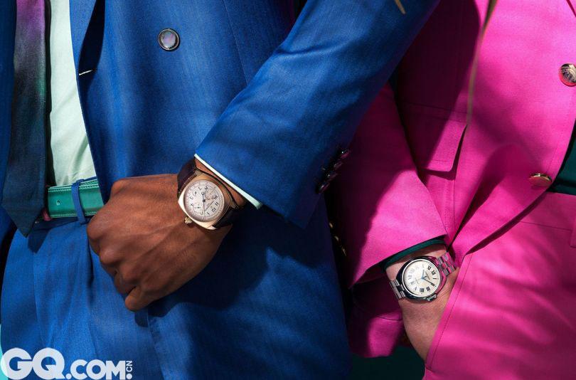 2016全部新品腕表已经上线,各大品牌推出的男人腕表,色彩上的冷峻除了酷无法言喻。如果你也太过暗淡,就没法搭配了。谁说正装腕表就得搭配正装?如果搭配一点点色彩,也是GQ男人应该学习的一课。 佩戴表款:Vacheron Constantin