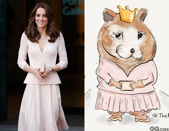 标志性笑容,长发,长裙,王妃全无槽点。