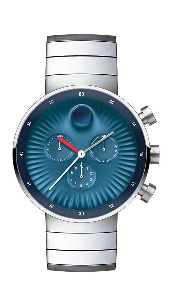 "Yves Béhar认为:""这是一个机遇,让我们能创造出一些在钟表设计史上难得一见的作品。瑞界系列最核心的设计理念是全新材质、纹理以及三维结构,表盘上凹陷的纹理能够捕捉光影之美,并且吸引人们的目光。当佩戴者的手腕活动时,表盘的视觉也会发生变化,象征性的表明了时间是我们生活变化的印记这一理念。"""