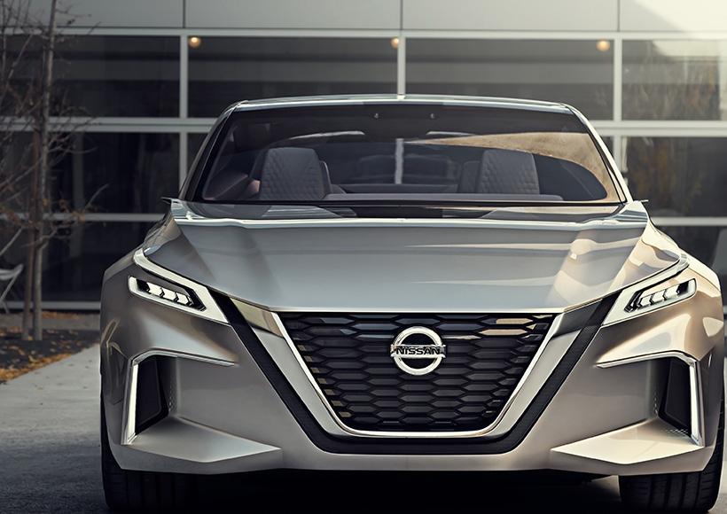 Nissan Vmotion 2.0 Concept是日产企业对于未来轿车设计的描绘,言下之意则是表面日产往后的轿车设计风格都会取自这款Vmotion 2.0。