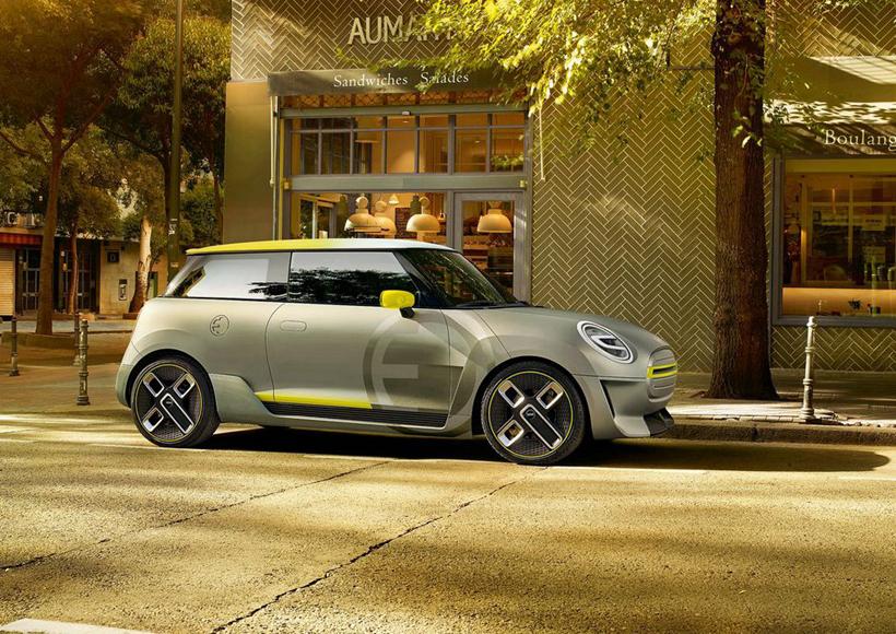 在许多以宽敞舒适为主打概念的车型占据大部分市场之时,小巧迷你的Mini Electric Concept却反其道而行之,给人带来耳目一新之感。外形酷似一辆灵巧可爱的卡丁车的它,银色的车身颇有一种前卫的科技感。