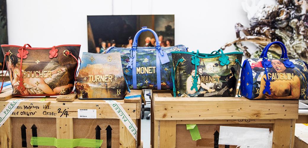 "LV x Jeff Koons | 把高更莫奈的大师之作""袋""在身边"