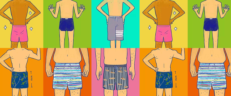 你的三角泳裤该扔掉啦,去海滩应该穿成这样
