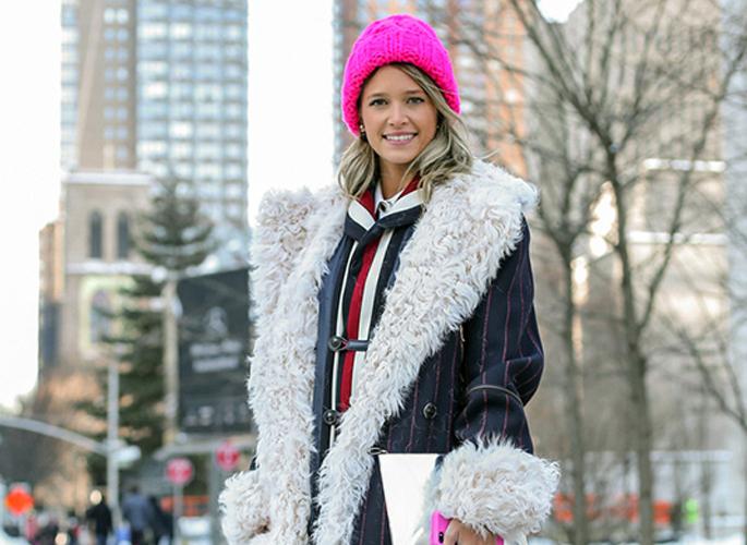 翻毛领外套造型保暖两不误