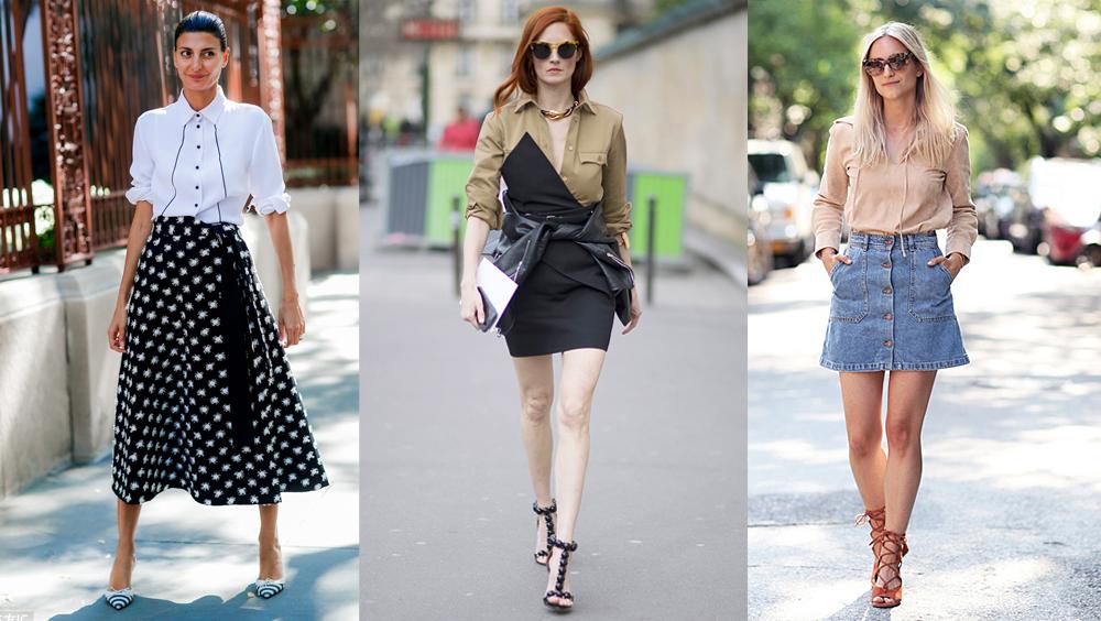 衬衣配半裙,我想穿着它和夏天谈恋爱