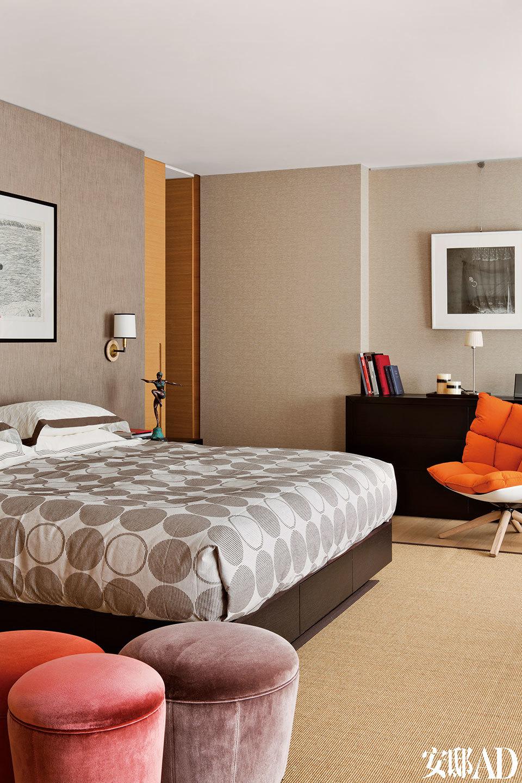 整个卧室区域都位于一层,十分私密。