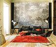 客厅里,Lifesteel皮沙发来自Flexform。Paulistano扶手椅是Paulo Mendes da Rocha为Objekto设计的作品。Habibi矮桌出自Philipp Mainzer之手,是其为E15设计的作品。以上物品均购自Naharro Showroom。矮桌上摆放的盛冰容器和水杯由William Yeoward设计而成,工业风格的立式聚光灯来自Scooter,Ouelmes羊毛地毯和Batania靠垫来自摩洛哥,购自Berbería。墙上 的亚凯迪亚风景画作购自纽约的ABC Carpet&Home。