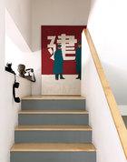 习惯,他们喜欢用这种方式和自然接触。楼梯口的作品出自艺术家Emmanuel Chantebout。
