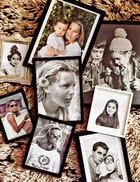 """主人: Montse Cuesta,AD 西班牙版前主编,2014年4月因病去世。Montse的家庭照片墙。在这里,你可以看到她年轻时的单人照,她婴儿时和父亲的合照,以及她和儿子的合影。""""我不喜欢在桌上摆相框,所以把家人的照片都挂在一面墙上。"""""""
