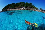 泰国斯米兰岛拥有其它海岛无处可觅的罕见风光,在这里,脚踩着白色珊瑚沙,闲步于静谧的沙滩,你会不时碰...