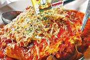 Amaroni`s千层面咖啡套餐,每层面铺满肉酱和自家制蕃茄酱,$172。