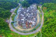 江西省上饒市婺源縣,航拍中國最圓村莊——菊徑。