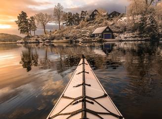皮劃艇上的風光系列:挪威美景如畫醉人心魄
