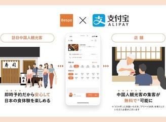 Bespo! x支付寶一起為中國游客打造便捷個性化的日本美食體驗