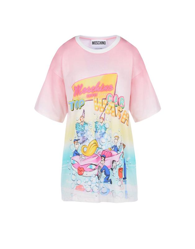 2016早春系列手绘彩色图案白色t恤