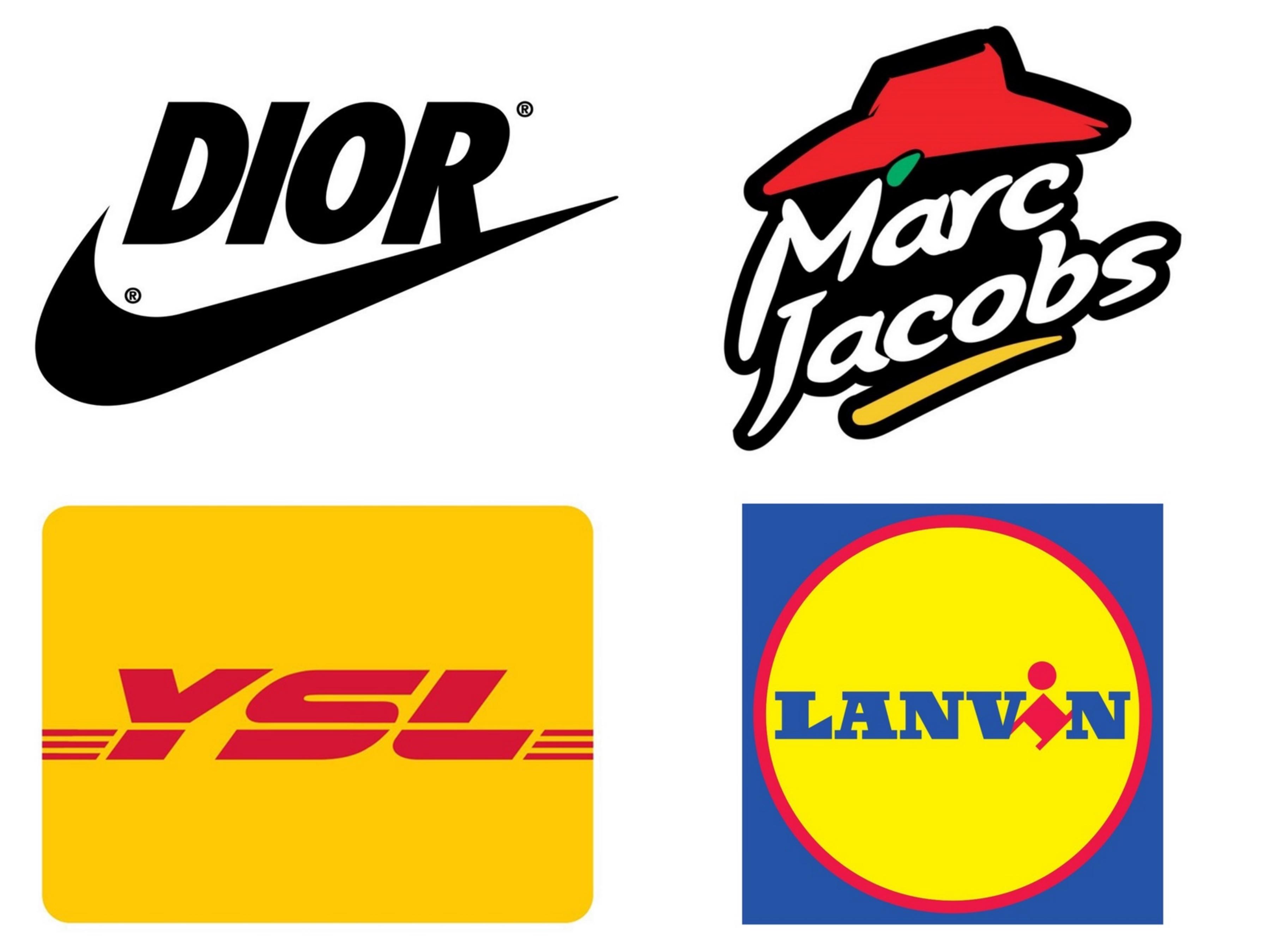 设计师reilly带来一系列时装品牌logo与经典品牌的混搭,把各种如nike