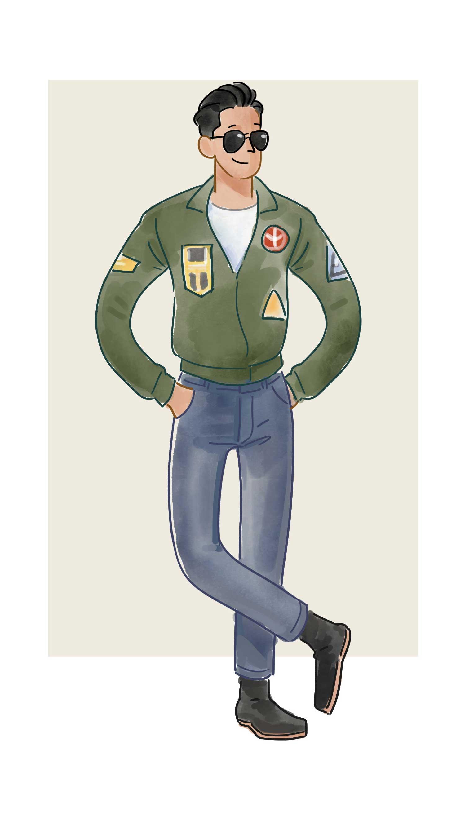 每日穿搭|《Top Gun》中有徽章的飞行员夹克才真时髦