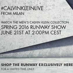 2016春夏米兰男装周 Calvin Klein Collection秀场直播