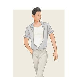 每日穿搭|敞胸露怀的居然也能有绅士感