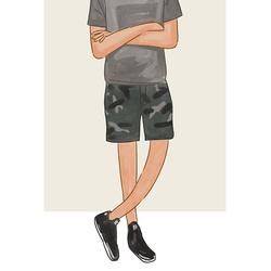 每日穿搭|气宇不凡的迷彩短裤