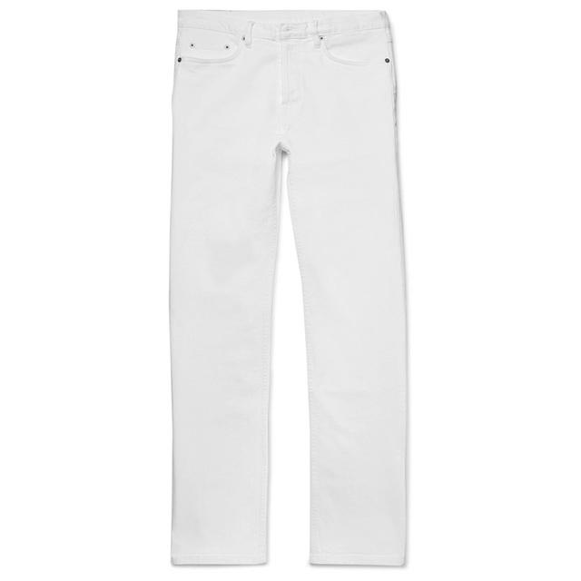 谁说白色牛仔裤显胖呢