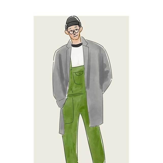 每日穿搭 时髦且童趣十足的工装背带裤