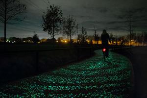 荷兰建世界首条太阳能路:夜晚灿如繁星闪耀