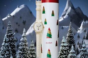 斯沃琪2014圣诞特别表款HOLIDAY TWIST(翻转圣诞)