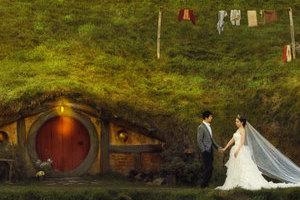 遇见新西兰美好风景的蜜月婚礼