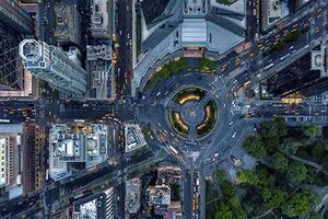 换个角度看世界 美摄影师高空俯拍展现纽约华美
