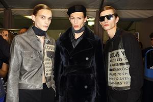 2016巴黎秋冬男装周Louis Vuitton秀场后台
