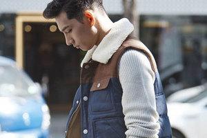 """衬衫外套的马甲,是懒人最后的""""遮羞布"""""""