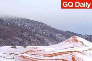 撒哈拉沙漠下了第一场雪,瞬间变身阿尔卑斯奶糖 | GQ Daily