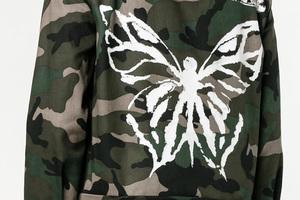 糙汉子的柔情时刻 说的就是这款蝴蝶印花迷彩装