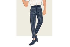 每日穿搭|风格可切换的条纹西装裤