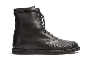 皮靴也可以有编织款