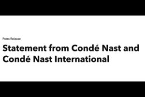 康泰纳仕国际就近期海外娱乐及时尚行业事件发表原则性意见