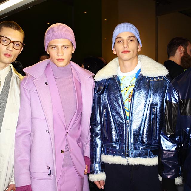 2016米兰秋冬男装周Versace秀场后台