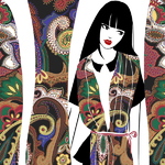 Leonard Paris发布2016秋冬印花丝巾视频及时尚插画