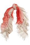 渐变色羊绒真丝混纺围巾