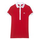 鳄鱼(LACOSTE) 2013春夏红色白领女式短袖POLO衫