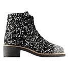 Chanel香奈儿2014春夏黑白斑点短靴
