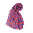 b ab 紫红色迷彩围巾