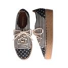 b ab 波点条纹印花布鞋
